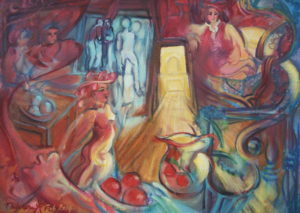 Narrative oil painting