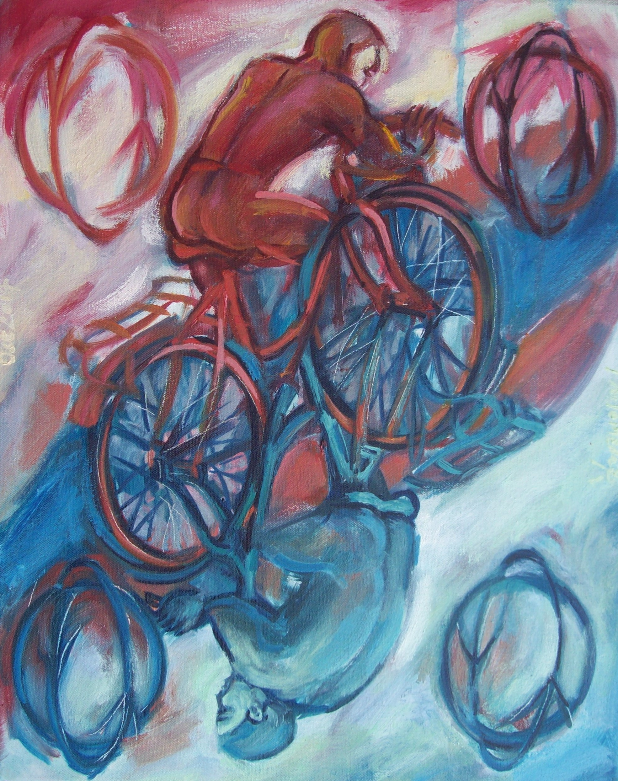 image by Philomena Harmsworth, Two of bikes