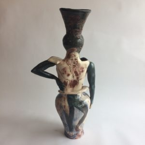 Helene back view, ceramic sculpture by Philomena Harmsworth