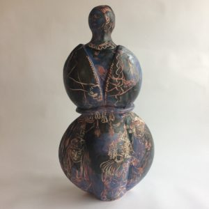 Drawing Circus front view, ceramic sculpture by Philomena Harmsworth