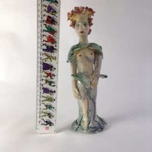 ceramic figurine, Cordelia by artist Philomena Harmsworth