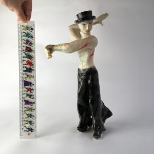 ceramic figurine, Male Flamenco Dance by artist Philomena Harmsworth