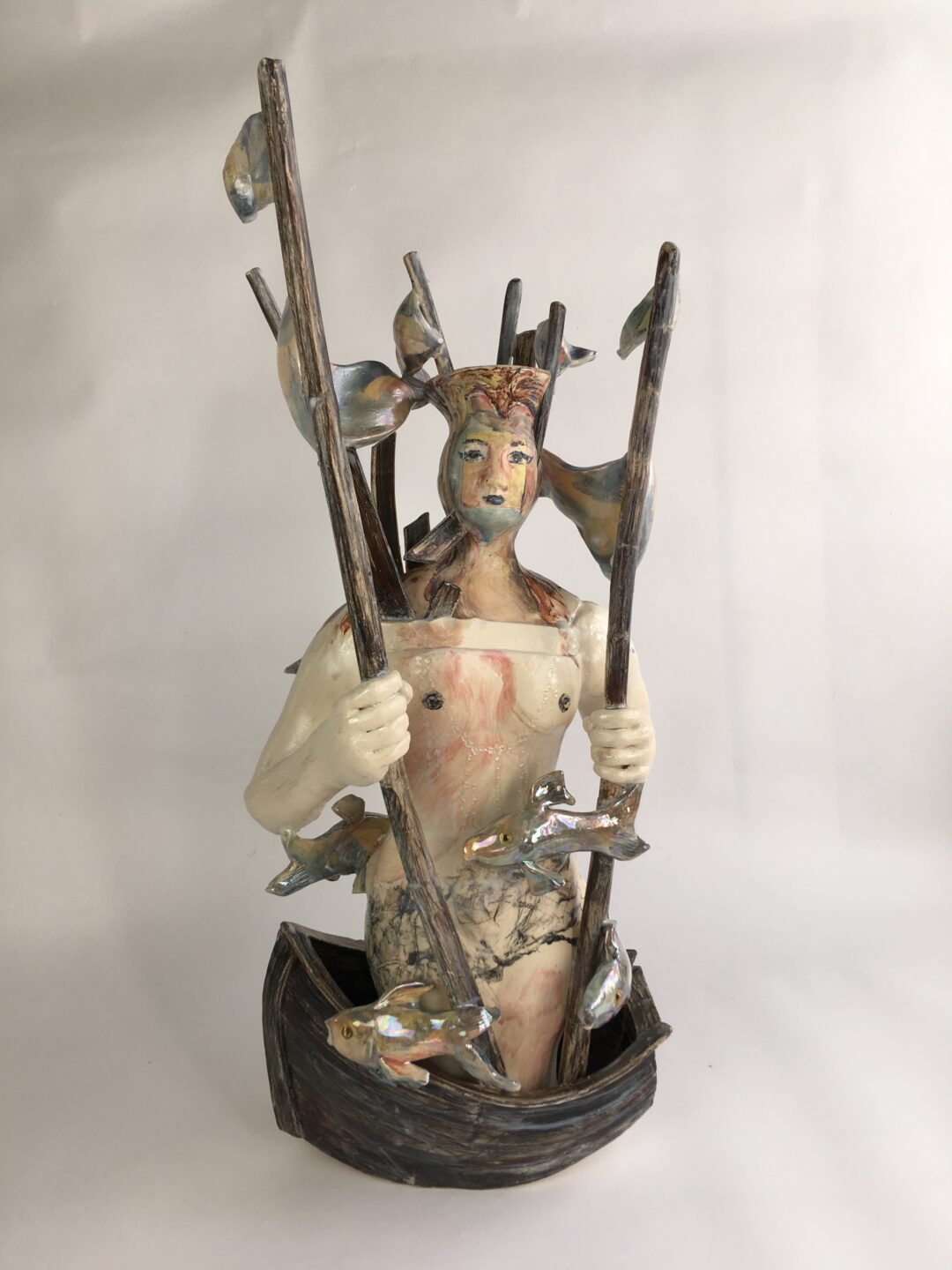 Show and Tell Girl 2 ceramic sculpture