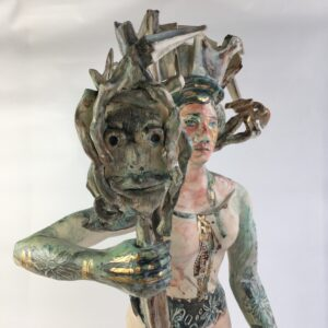 Show and Tell Girl 1 ceramic sculpture