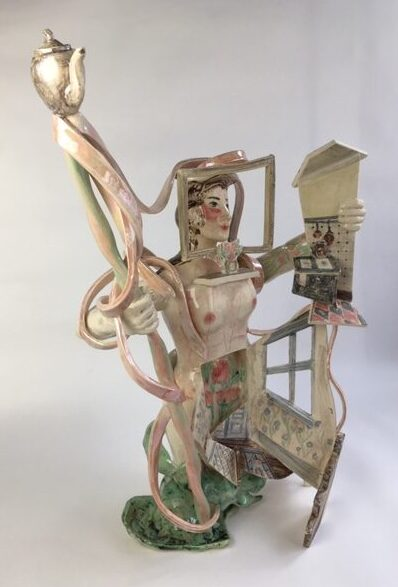 Show and Tell Girl 3 ceramic sculpture