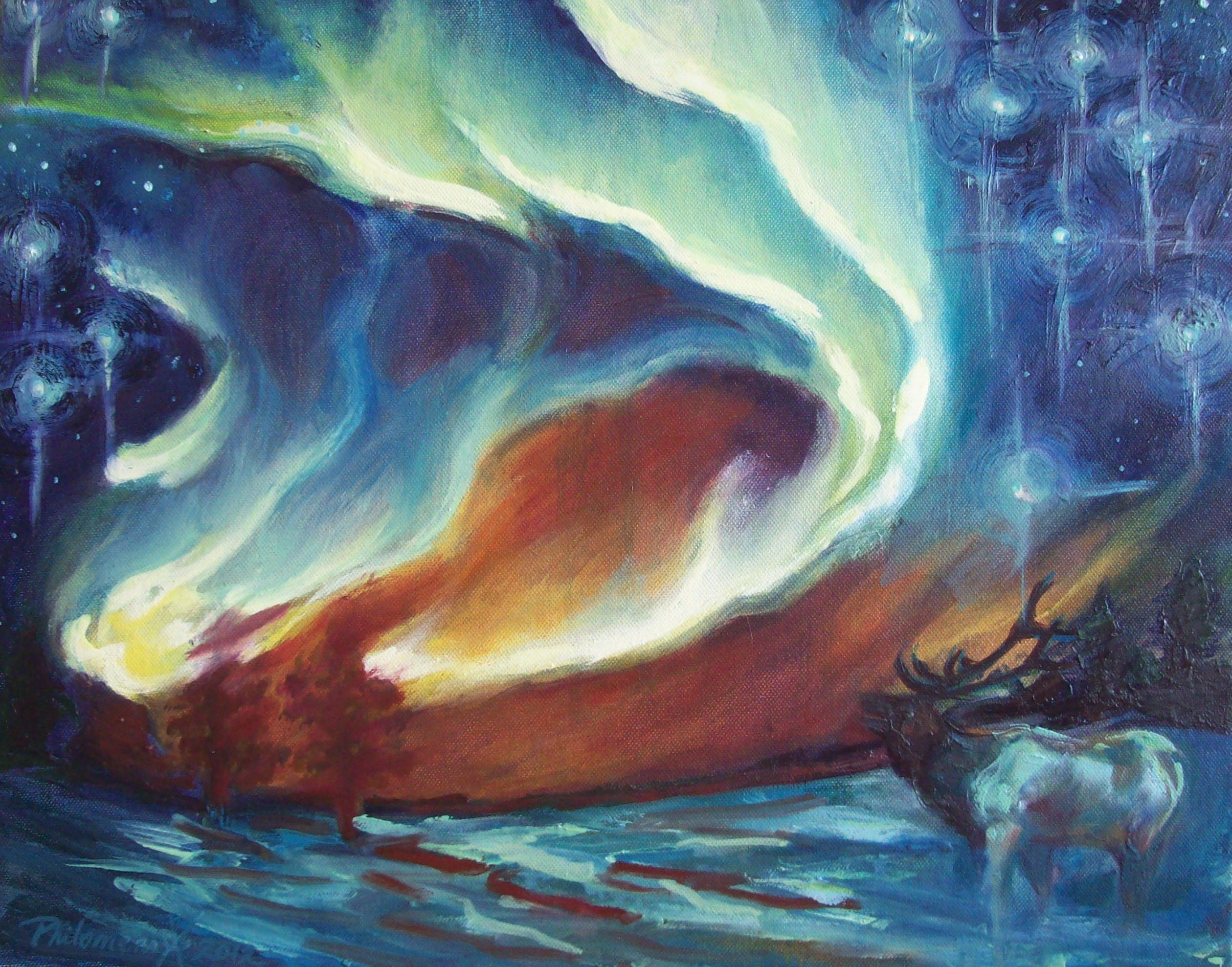 Holy Night, oil painting by Philomena Harmsworth
