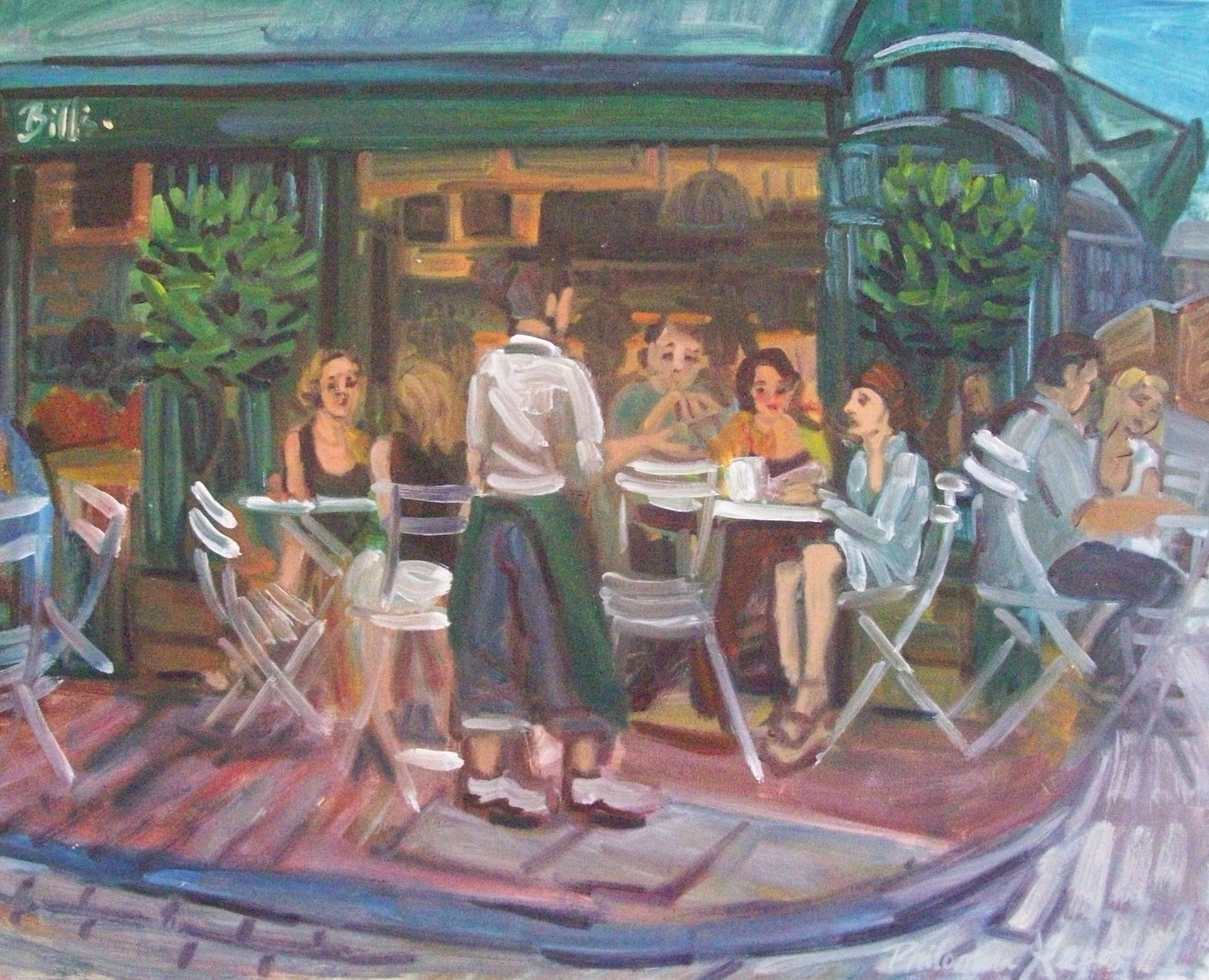 Bill's, Lewes, painting by Philomena Harmsworth