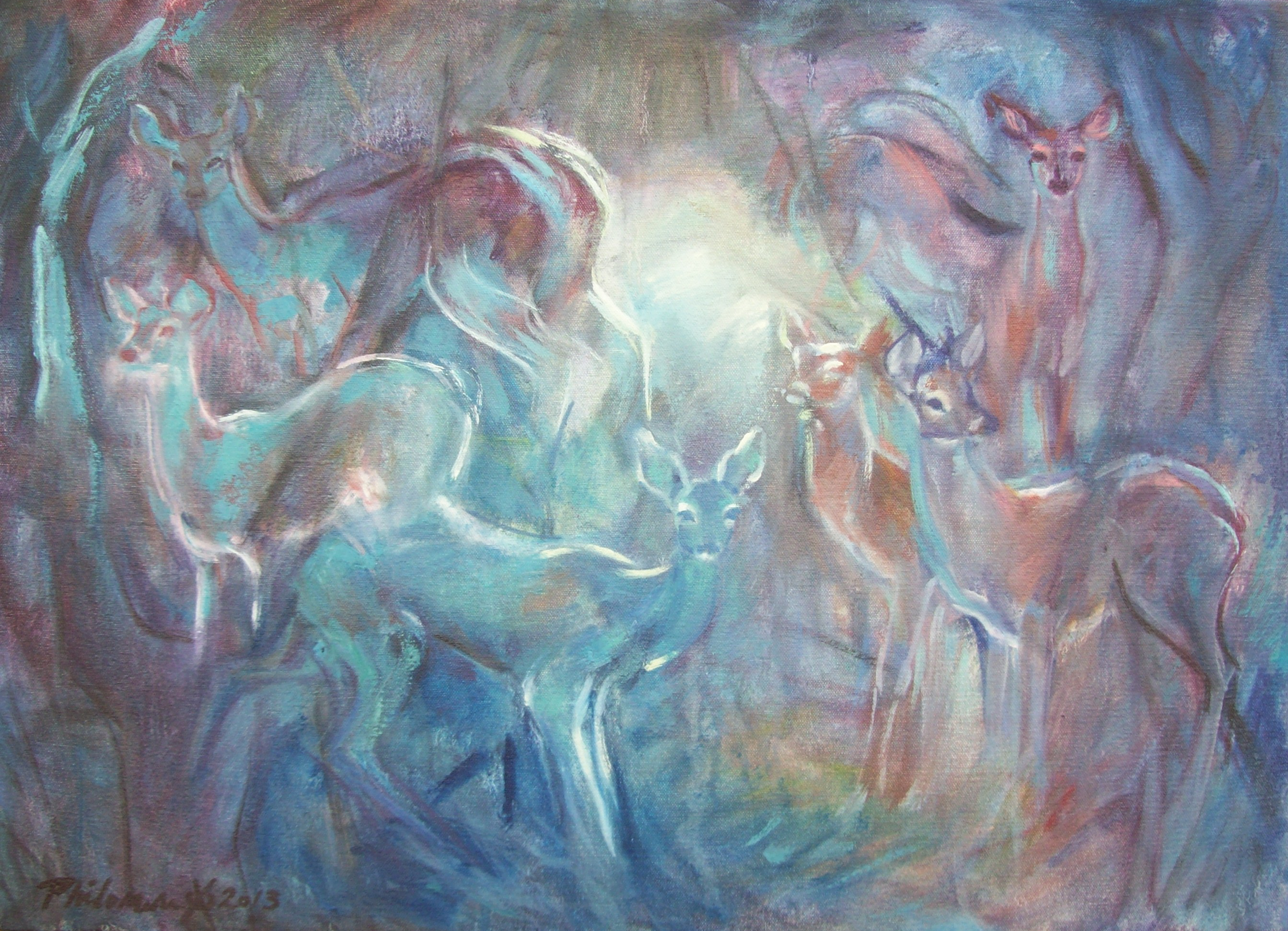 Creatures of the Night, painting by Philomena Harmsworth