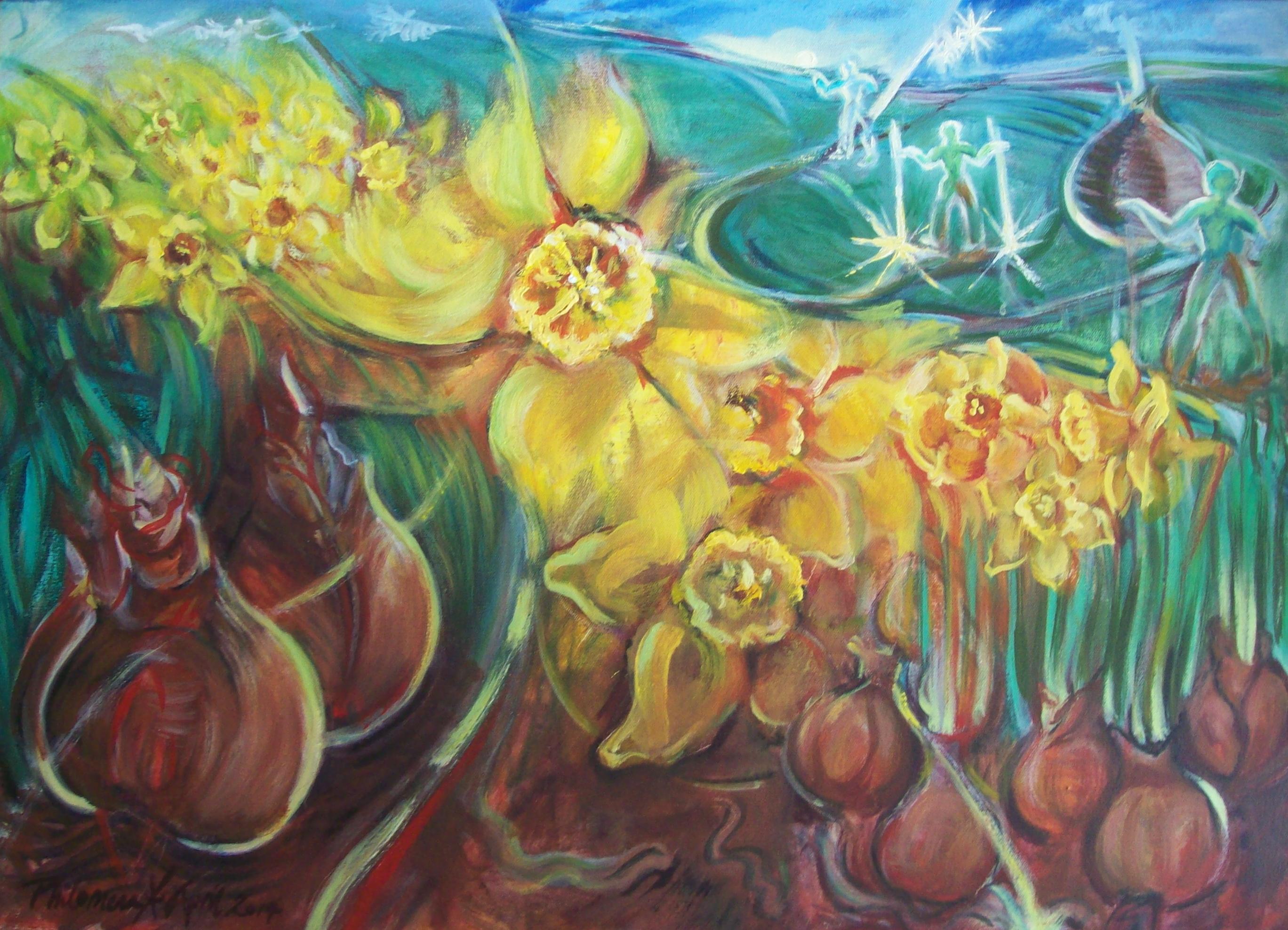 The Celestial Gardener, painting by Philomena Harmsworth
