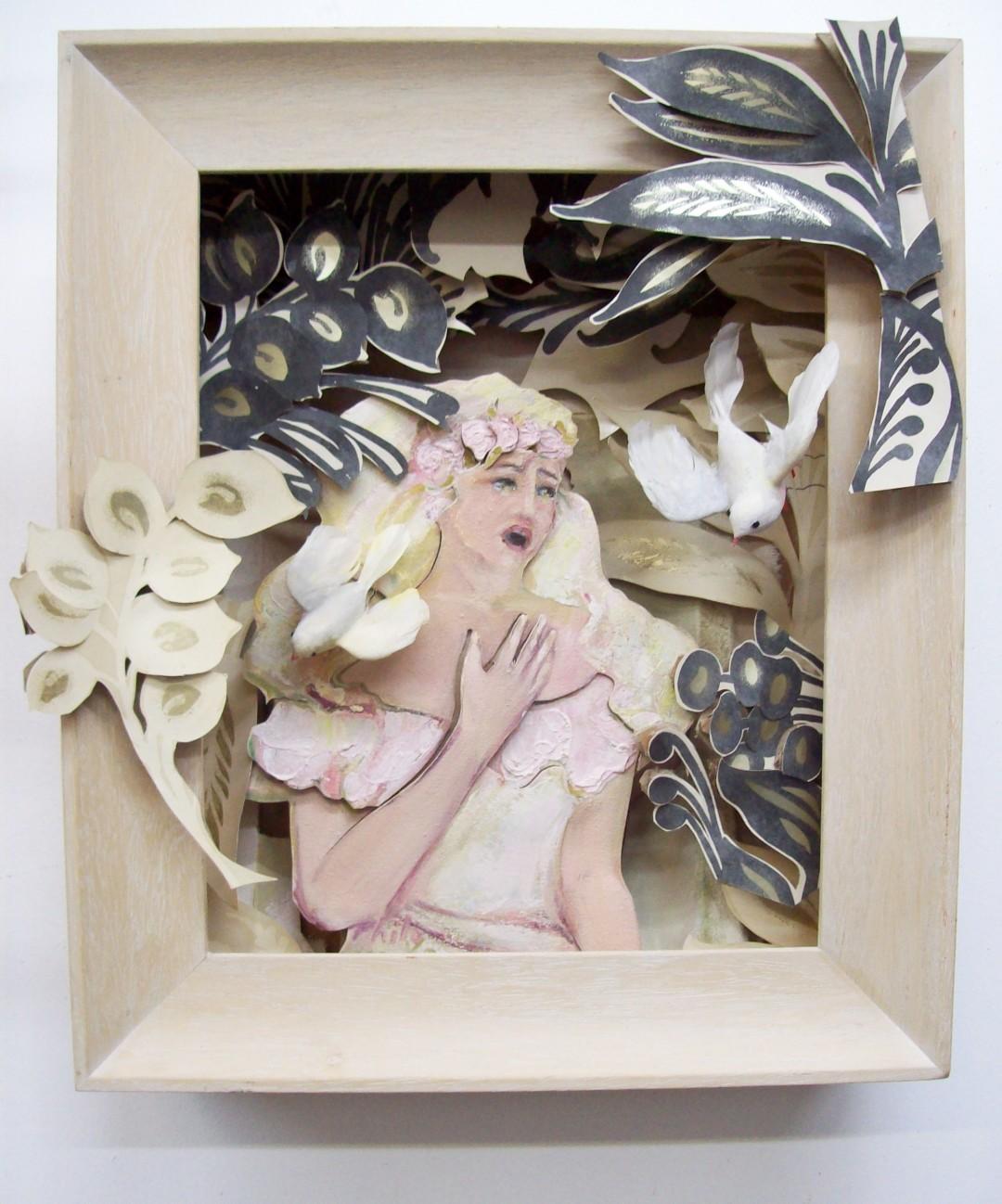 image of original artwork, Balding Bride by Philomena Harmsworth