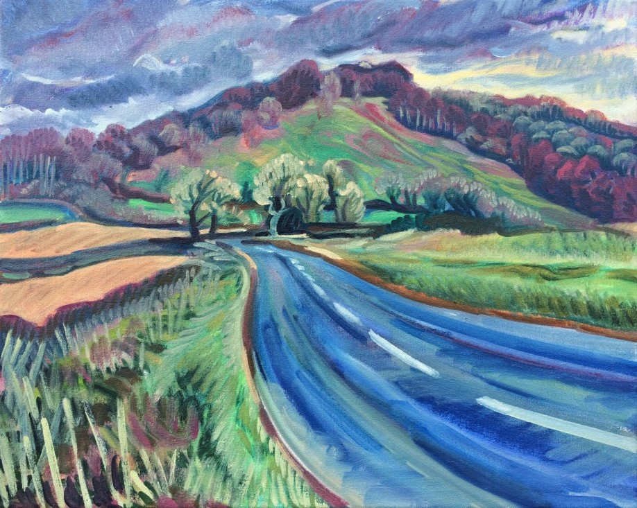 Lewesdon Hill, oil painting by Philomena Harmsworth