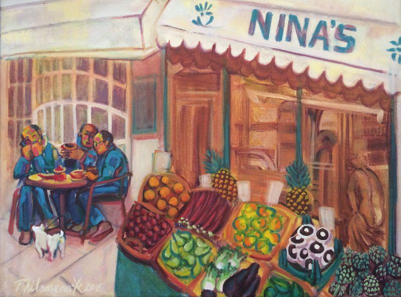 Nina's, oil painting by Philomena Harmsworth