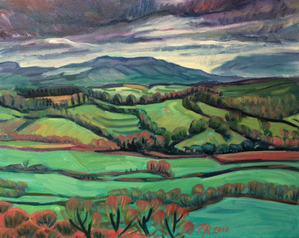 Thomas Hardy Country, oil painting by Philomena Harmsworth