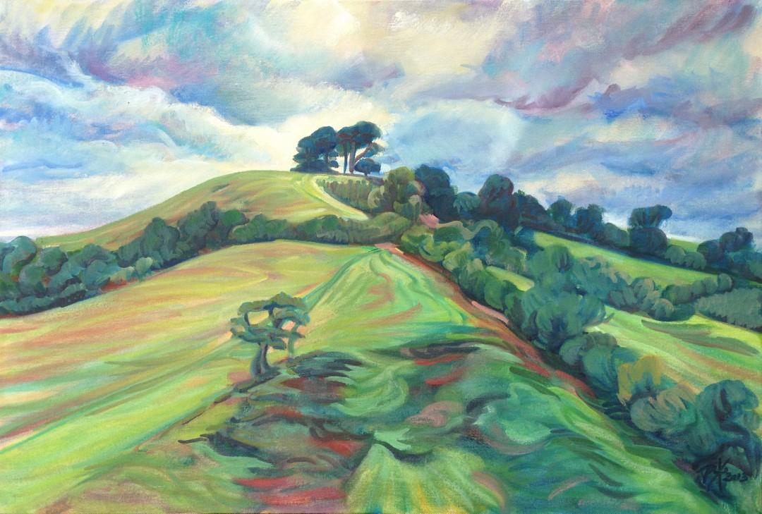 Gerrards Hill, oil painting en-pleine-aire by Philomena Harmsworth