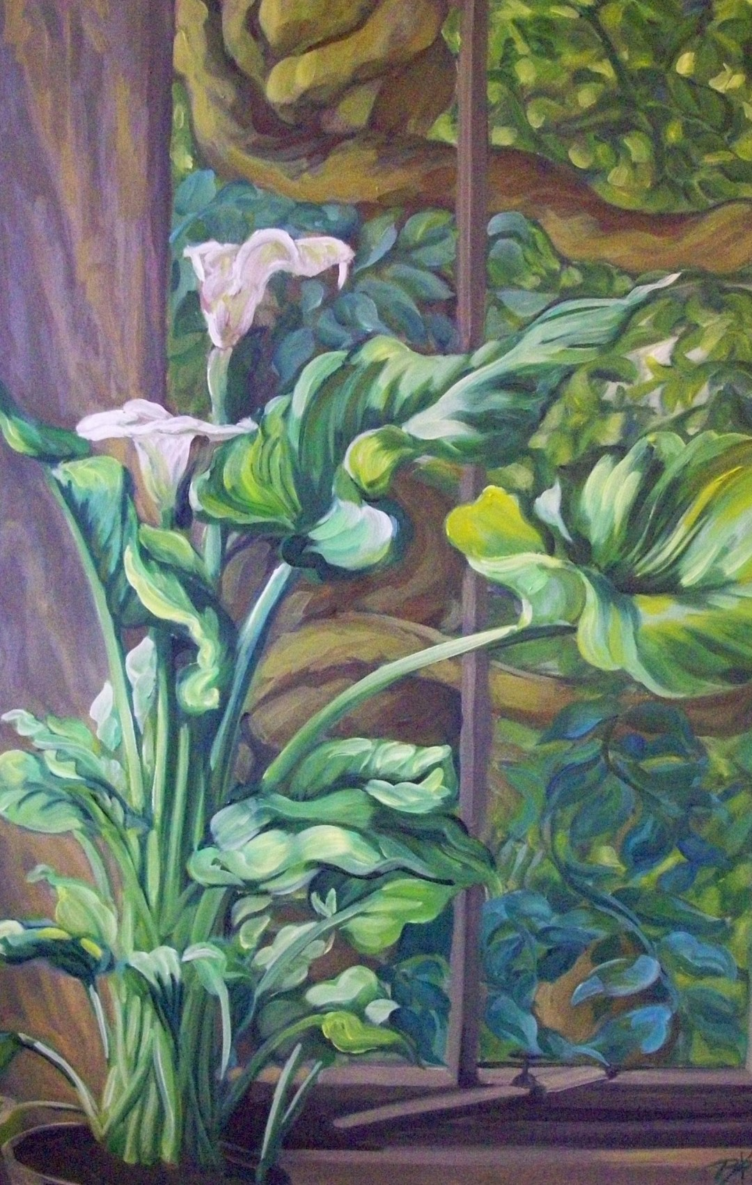 Peace Lily, oil painting by Philomena Harmsworth