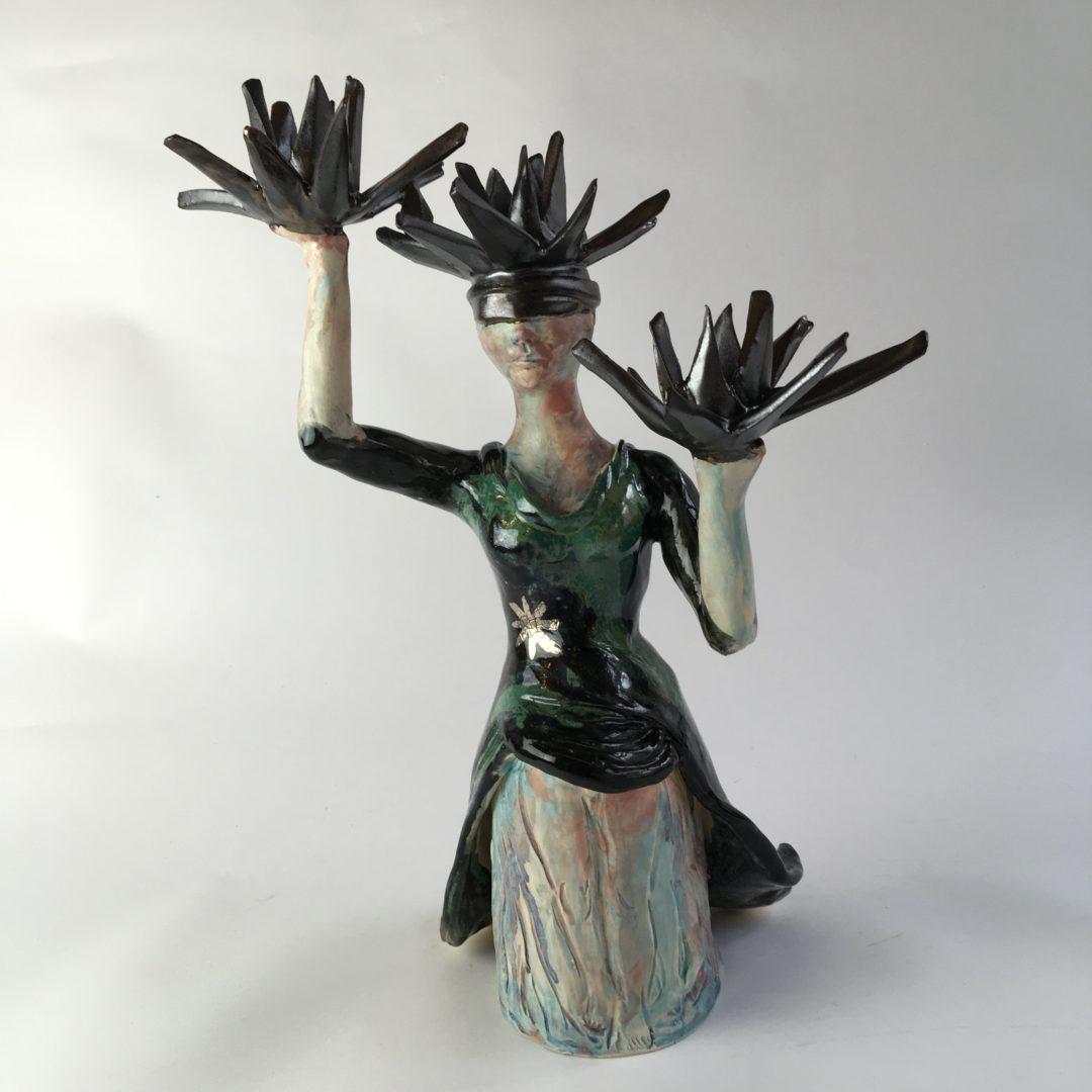 ceramic figurine, Night Walker by artist Philomena Harmsworth