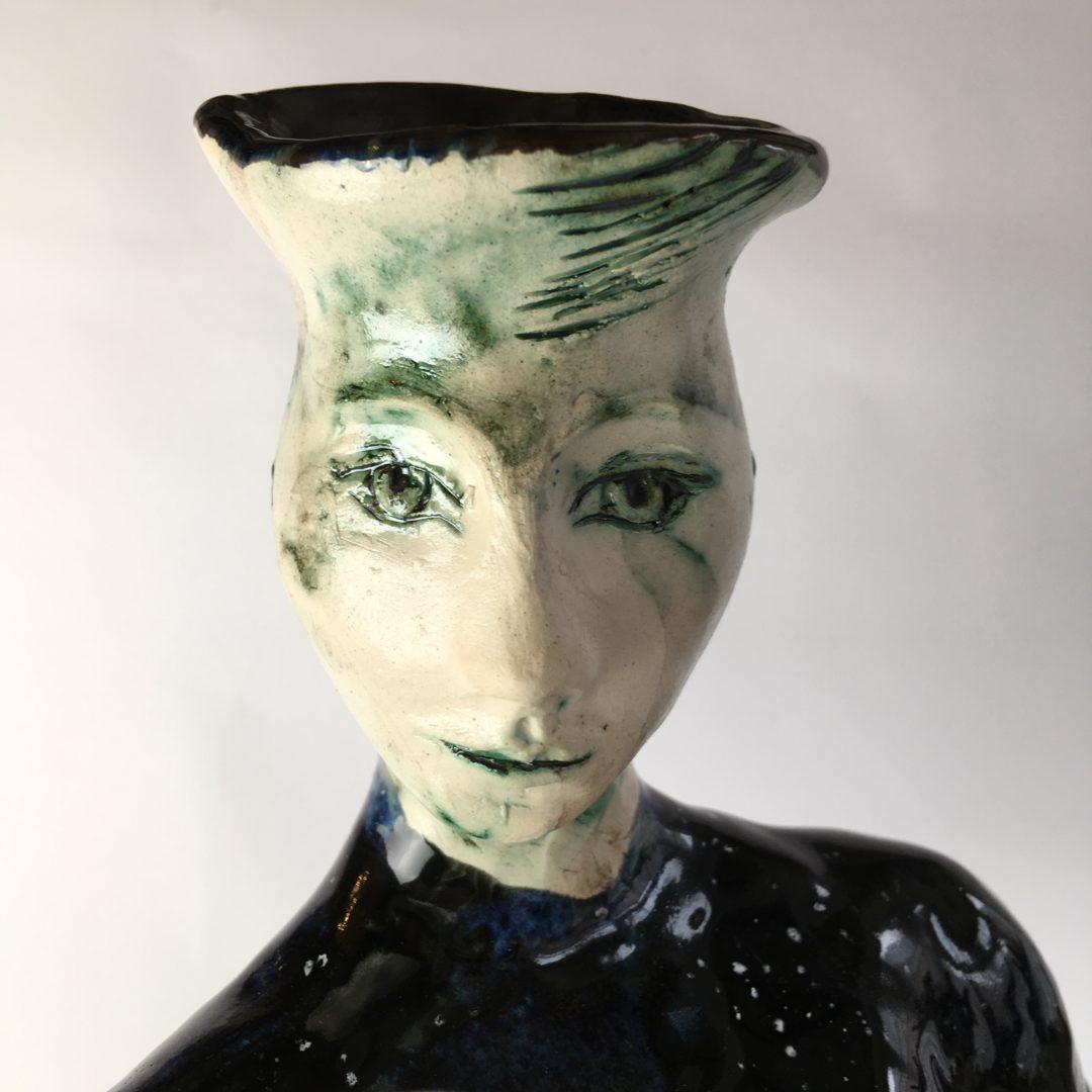 ceramic figurine, Star Channeller by artist Philomena Harmsworth